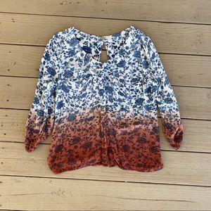 GIMMICKS OMBRÉ Peasant Top